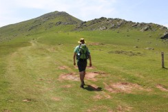 Gabe Heads Towards the Summit. Pyrenees Mountains, France