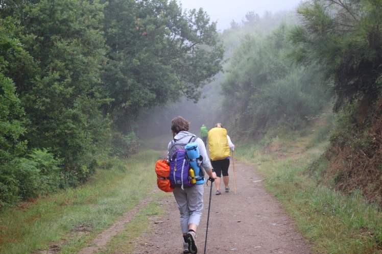 Walking Through Rain Galicia