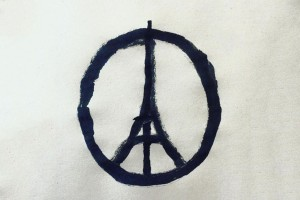"Painting by Jean Jullien ""Pray for Paris"""