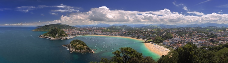 San Sebastián photo courtesy of Wikipedia Commons.